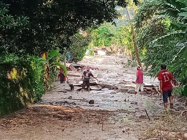 Daerah terdampak bencana banjir bandang di Tanah Datar
