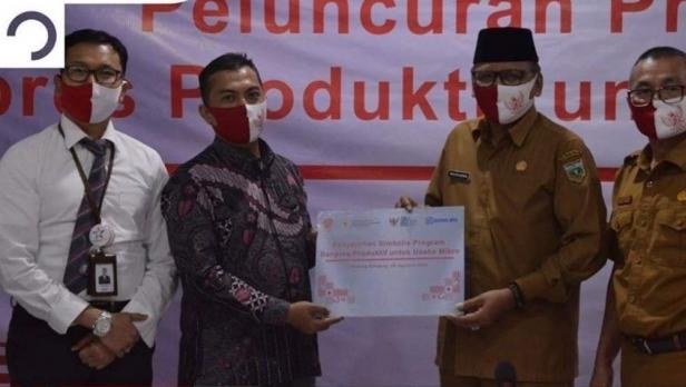 Pemko Padang Panjang salurkan program BPUM pada pelaku UMKM melalui Bank BRI
