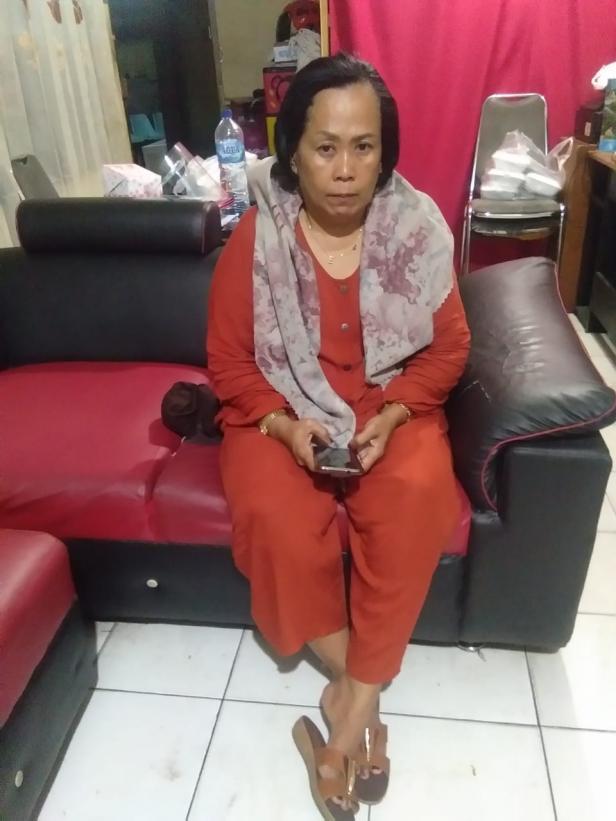 Tersangka setelah diamankan Satreskrim Polresta Padang