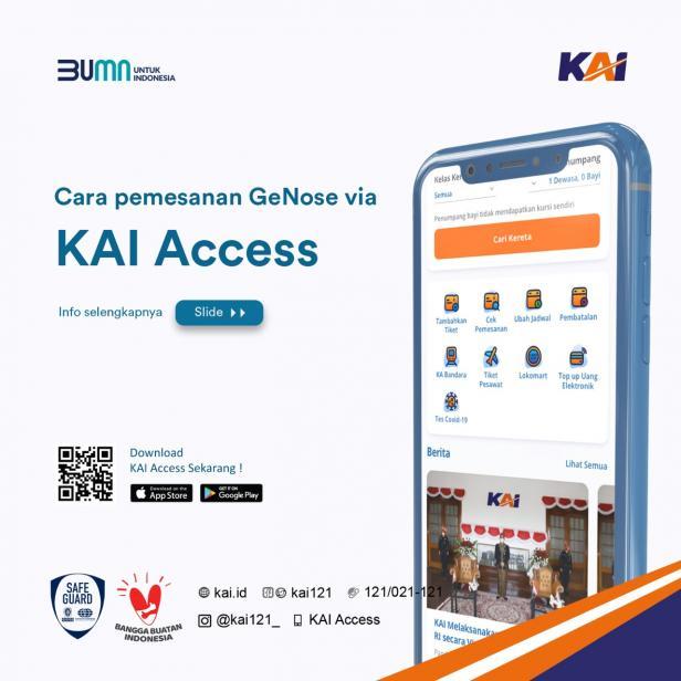 Panduan untuk pemesanan GeNose C19 via KAI Access