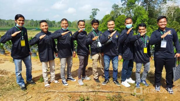Petani milenial Solok Selatan dan Kabupaten Solok saat mengikuti pelatihan di Bapeltan Jambi