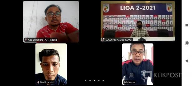 Konferensi Pers jelang laga perdana antara Semen Padang FC kontra PSPS Riau dalam Liga 2 2021