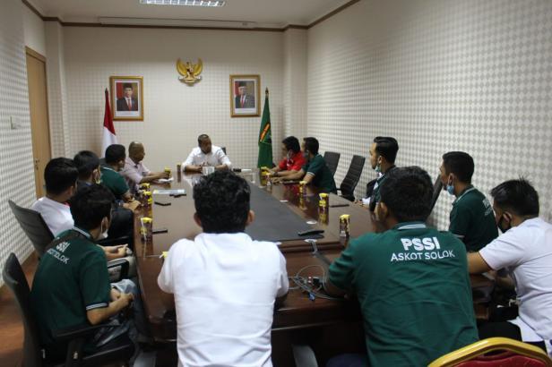 PSSI Askot Solok bertemu Wakil Gubernur Sumatra Barat