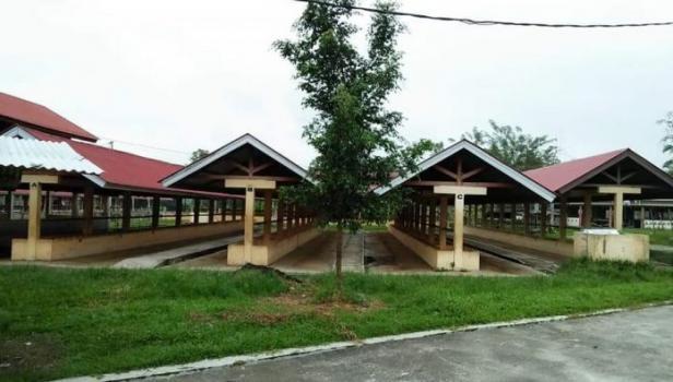 Kondisi Pasar Ternak Payakumbuh selama masa penutupan.