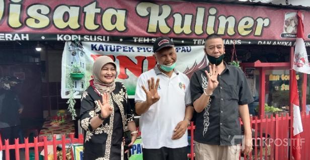 Mahyeldi Bersama Owner Wisata Kuliner Bukittinggi