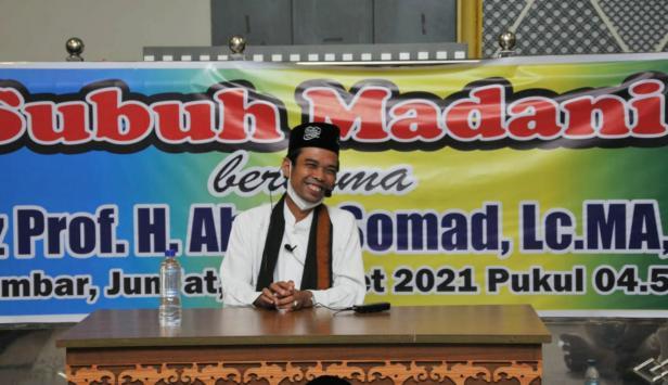 UAS saat ceramah di Masjid Raya Sumbar, Jumat, 26 Maret 2021
