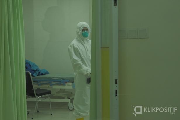Muhammad Rizki saat berada di ruangan perawatan Covid-19