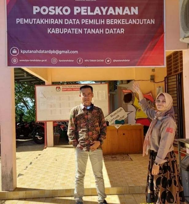 Posko Pelayanan DPB KPU Tanah Datar