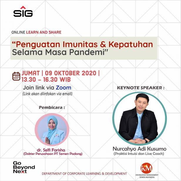 Semen Indonesia Group (SIG) menggelar Learn and Share