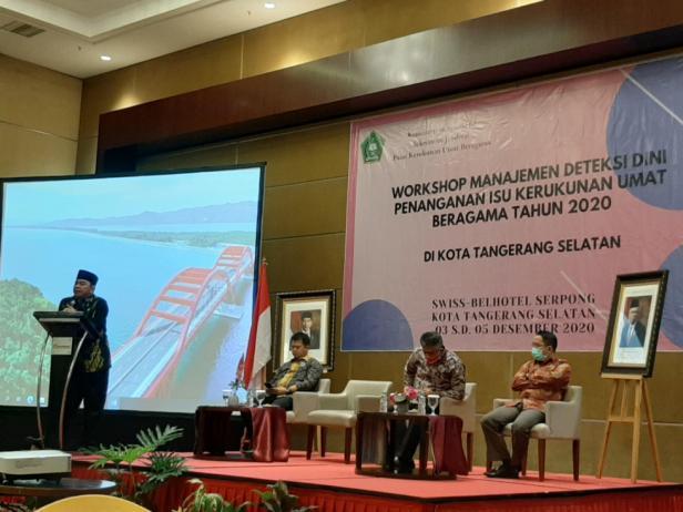 Workshop  Manajemen Deteksi Dini Penanganan Isu Kerukunan Umat  Beragama Tahun 2020