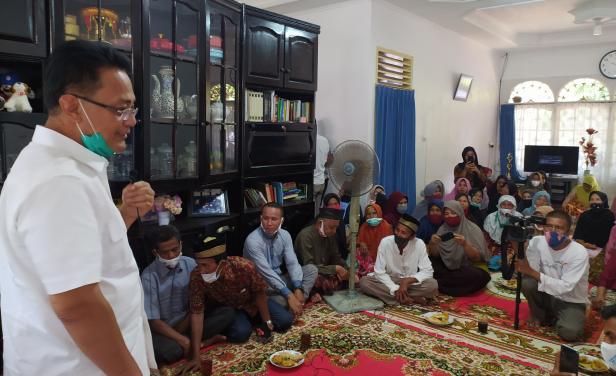 Calon Wakil Gubernur Sumbar Indra Catri di Kenagarian Lumpo, Kecamatan IV Jurai Kabupaten Pesisir Selatan