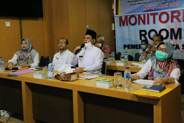Wawako Solok, Reinier membuka Vicon Musrenbang RKPD 2021 (Prokomp)