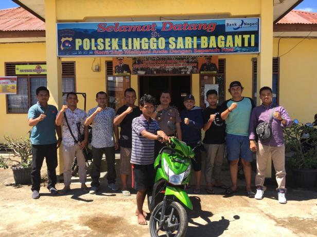 Penada Curanmor saat ditangkap di Linggo Sari Baganti-Pessel