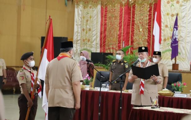 Ketua Kwarda 03 Gerakan Pramuka Sumatera Barat, Nasrul Abit melantik Zul Elfian sebagai ketua Mabi Kwarcab Pramuka Kota Solok
