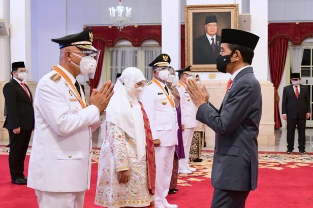 Presiden Joko Widodo lantik Mahyeldi -Audy Joinaldy sebagai Gubernur dan Wakil Gubernur Sumbar hari ini, Kamis (25/2)