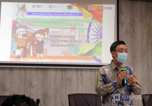 Direktur Utama Rumah Sakit Otak Dr. Drs. Mohammad Hatta (RSOMH), Alsen Arlan