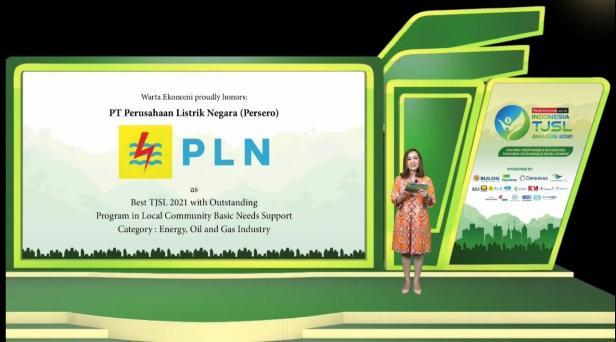 Dukung Pengentasan Kemiskinan, PLN Raih Penghargaan Best TJSL 2021 with Outstanding