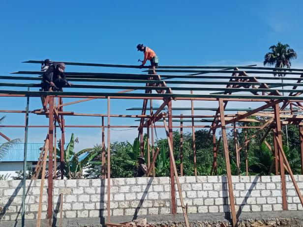 Dukungan Penuh Masyarakat Pacu Semangat Satgas TMMD Percepat Pembangunan