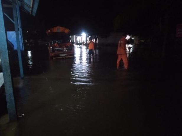 Lokasi Banjir di Nagari Aia Tajun Lubuk Alung, Kecamatan Lubuk Alung, Kabupaten Padang Pariaman