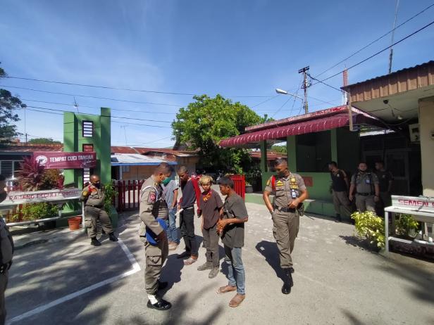 Anak jalanan yang diamankan Satpol PP Padang