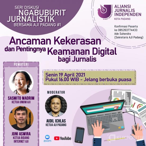 Gelar Ngabuburit Jurnalistik, AJI Padang Ajak Perhatikan Keamanan Digital dan Ancaman Kekerasan Terhadap Jurnalis
