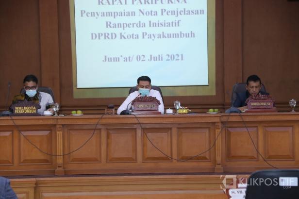 Gelar Rapat Paripurna, DPRD Kota Payakumbuh Sampaikan Tiga Ranperda Inisiatif