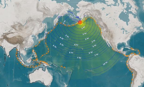 Titik gempa di Alaska