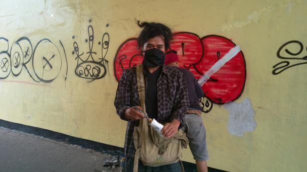 Salah satu anggota Vandalisme Goro