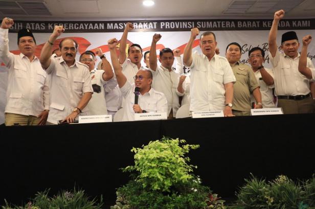 Rapimda Partai Gerindra Sumatera Barat di Hotel Mercure, Minggu malam 8 Maret 2020