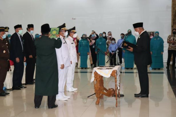 Pelantikan Wali Kota Padang dan PJ Bupati Solok