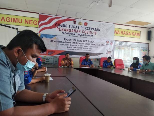 Gugus Tugas Percepatan Penanganan Covid-19 Lubuk Kilangan mensosialisasikan Surate Edaran Walikota Padang tentang Adaltasi Kebiasaan Baru kepada Karang Taruna Luki.