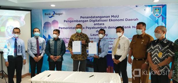 Pemko Payakumbuh teken MoU bersama Bank Nagari Pusat di Padang