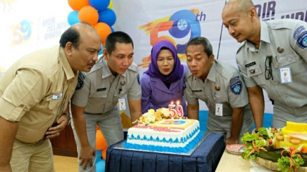 Peringatan Hari Ulang Tahun PT Jasa Raharja (Persero) ke 59 pada Kamis (2/1) di Kantor PT Jasa Raharja Cabang Sumatera Barat, Padang .
