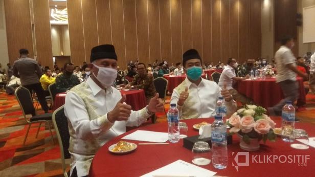 Bakal Pasangan Calon Gubernur dan Wakil Gubernur Sumbar Mahyeldi dan Audy Joinaldi