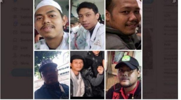 laskar FPI yang tewas ditembak aparat kepolisian di KM 50 Tol Jakarta - Cikampek