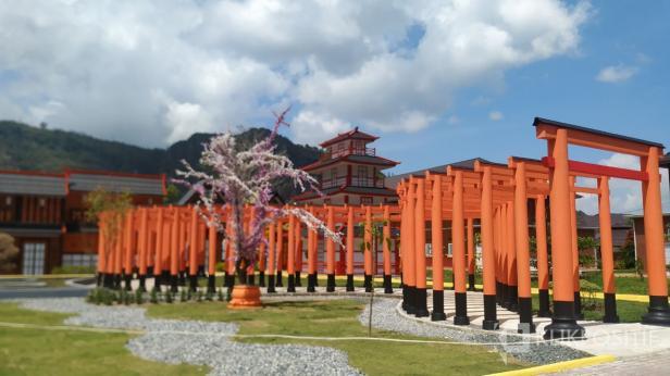 Suasana salah satu spot Kampung Korea Jepang di Kawasan Kampuang Sarosah, Lembah Harau