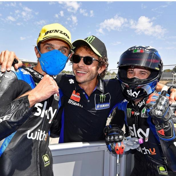 Tiga pebalap Yamaha naik podium di MotoGP Andalusia