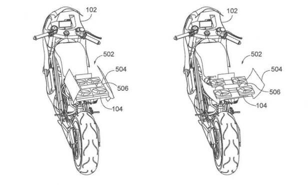 Paten yang diajukan Honda untuk sepeda motor dengan dukungan drone