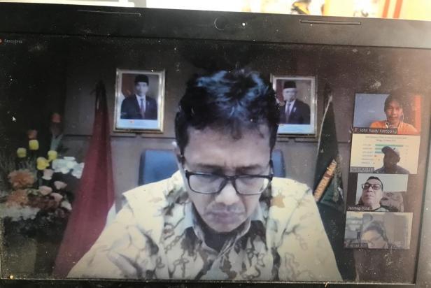 IJTI Sumbar dan Jurnalis Lainnya saat Jumpa Pers Online Bersama Gubernur Sumbar Irwan Prayitno