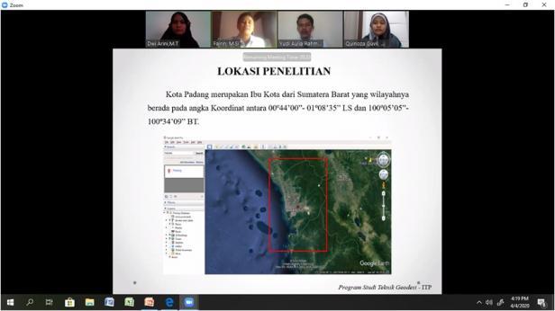 Kuliah online yang dilaksanakan dosen dan mahasiswa ITP