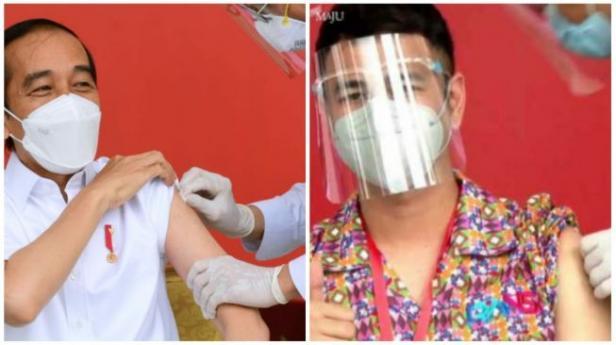 Jokowi dan Raffi Ahmad Disuntik Vaksin Covid-19