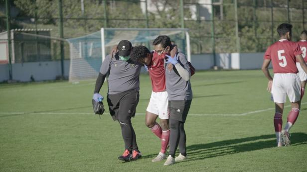 Bagas Kaffa mengalami cidera saat lawan NK Dugopolje
