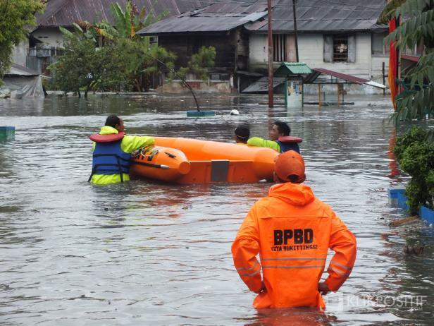 Ilustrasi Banjir di Bukittinggi