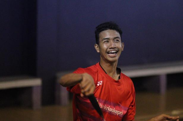 Danilo, salah seorang atlet badminton binaan Yayasan Bintang Kidul, Yogyakarta asal Padang.
