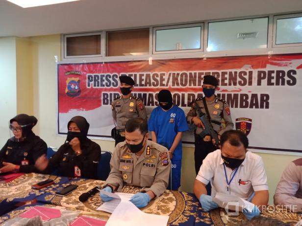 Press Release Kasus Ekploitasi dan Perdagangan Orang di Mapolda Sumbar
