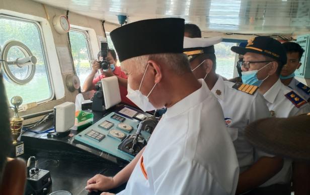 Launching KMP. Tanjung Burang