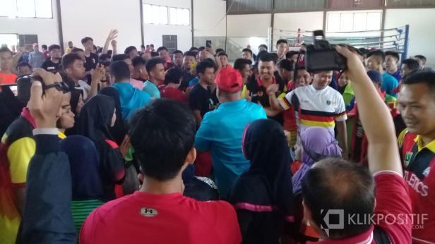 Latihan bersama atlet lolos PON XX Papua