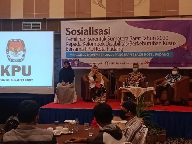 KPU Sosialisasi kepada penyandang disabilitas