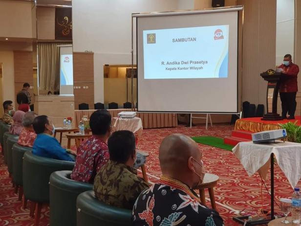 Kantor Wilayah Kementerian Hukum dan HAM Sumatera Barat selenggarakan promosi dan diseminasi terkait kekayaan intelektual, Rabu (24/2) malam.