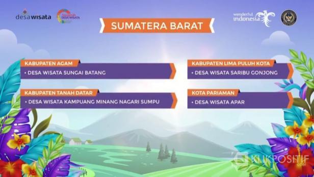 Empat Desa Wisata Sumbar lolos 50 Besar Anugerah Desa Wisata Indonesia (ADWI) 2021, salah satunya Kampuang Sarugo di Lima Puluh Kota